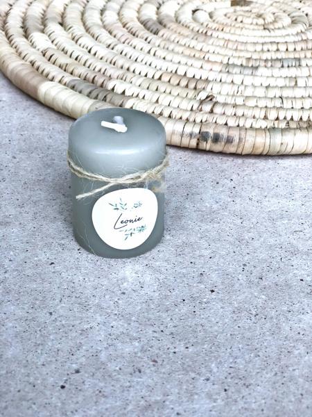 Afbeeldingen van Kaarsen groengrijs