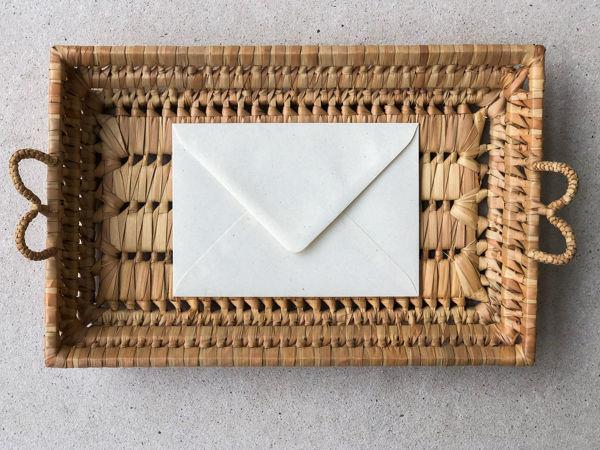 Afbeeldingen van Envelop vintage natuur