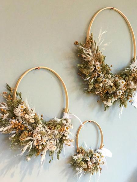 "Afbeeldingen van DIY pakket ""Dried Flower Hoops"""
