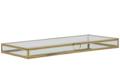 Afbeeldingen van Vitrine kistje goud (rechthoekig)