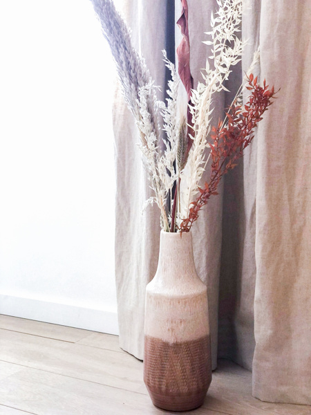"""Afbeeldingen van Vaas """"Pauline"""" met droogbloemen"""