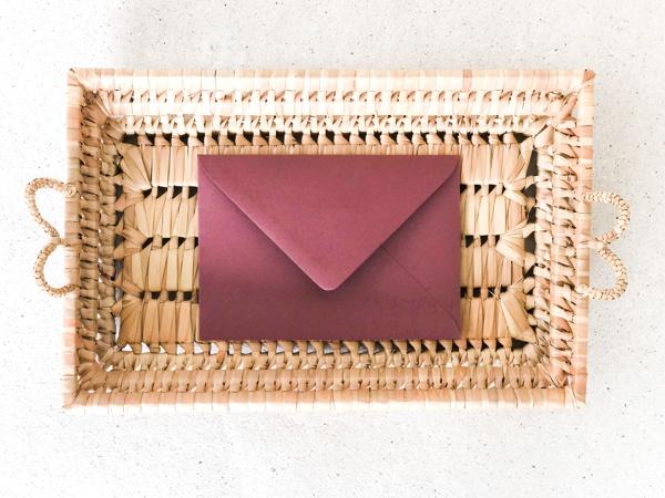 Afbeeldingen van Envelop framboos